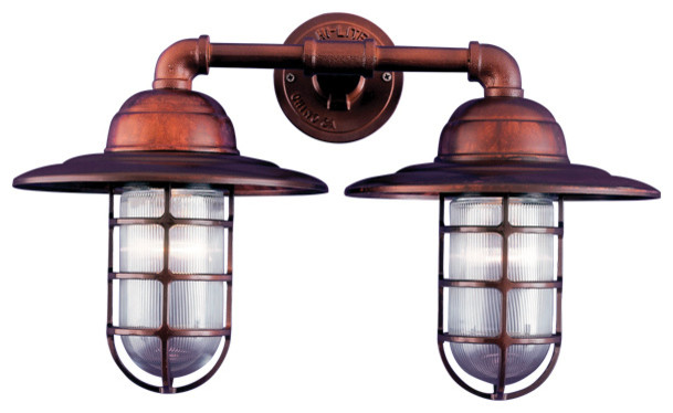 Rustic Copper Wall Lights : THE SEASIDE VESSEL DUO COPPER & BRASS WALL LIGHT - Rustic - Wall Lighting - other metro - by ...