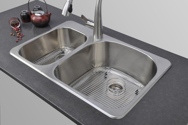 Wells Sinkware Double Bowl Topmount Stainless Steel