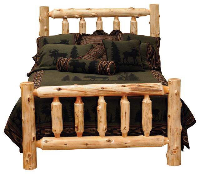 Cedar Traditional Log Headboard, Traditional Cedar, Queen ...