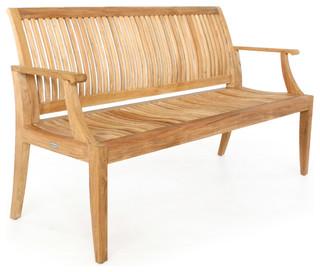 Laguna 5 39 Teak Bench Modern Garden Benches Orange County By Westm