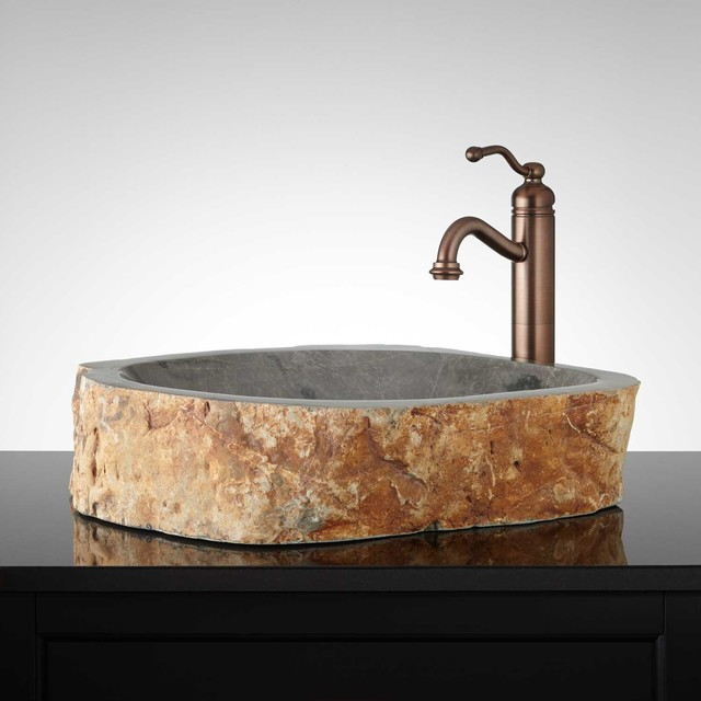 Marburg Natural Stone Vessel Sink Modern Bathroom Sinks By Signature Hardware