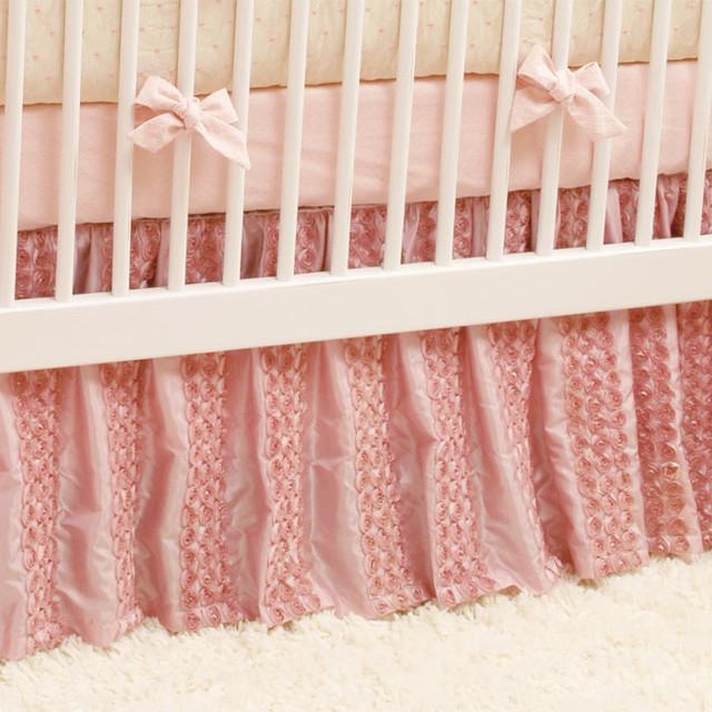 Dozen Roses Crib Skirt Traditional Baby Bedding