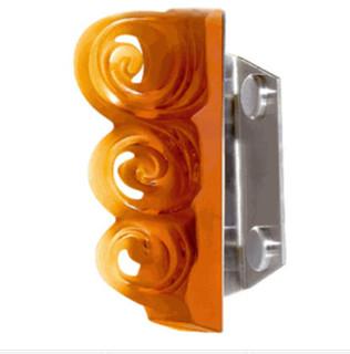 Lalique Lijiang Door Handle Amber 1 Side Glass Door - Transitional ...