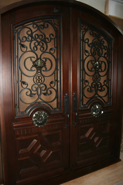 Honduran Mahogany Front Door Traditional Front Doors