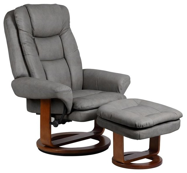 Traditional Living Room Chairs: Mac Motion Chairs Gun Metal Slate Nubuck Bonded Leather