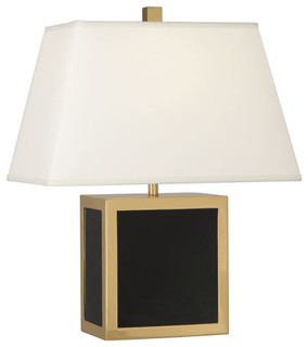 robert abbey jonathan adler barcelona short table lamp black