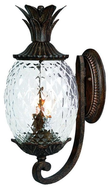 2 Light 18 Height Pineapple Outdoor Wall Sconce Tropical
