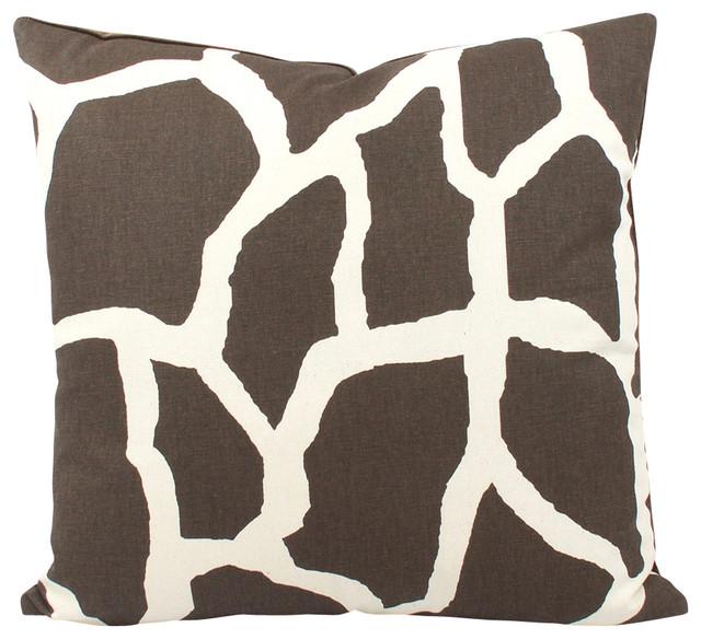 Safari Animal Print Throw Pillow, Giraffe - Decorative Pillows - by Chloe and Olive LLC