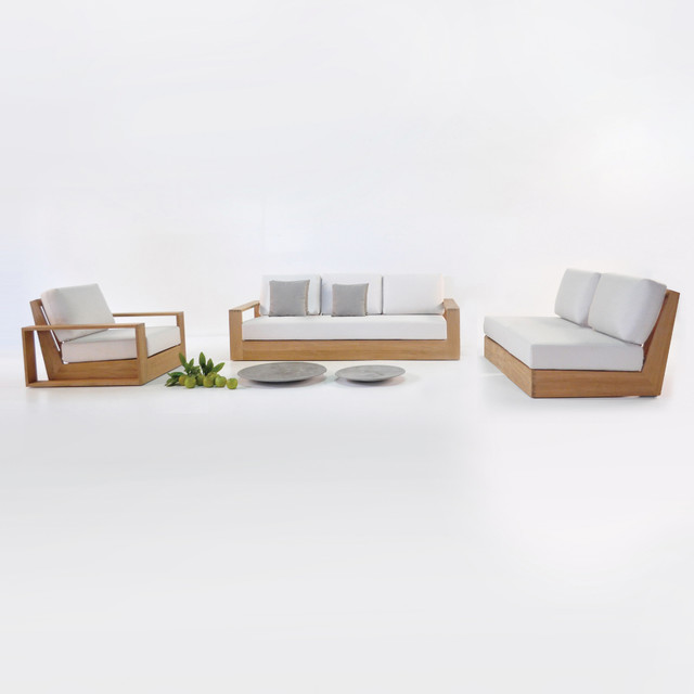 Cabana Teak Outdoor Furniture Collection Midcentury