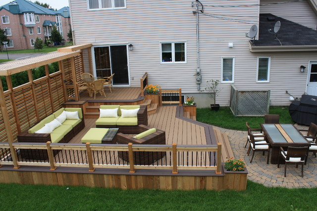 Patio deck art design contemporary montreal by for Decks and patios design ideas