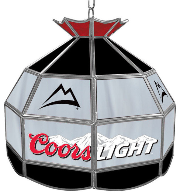 Coors Light Stained Glass Pool Table Light: Coors Light Stained Glass Tiffany Lamp, Diameter
