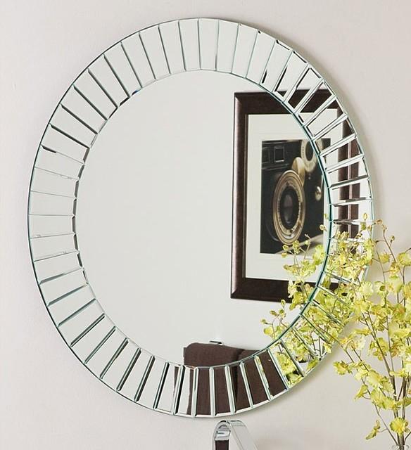 Glow Modern Frameless Wall Mirror Contemporary Wall