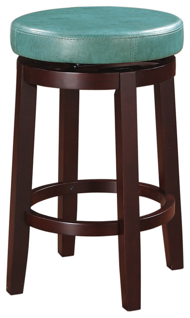 Linon Sloane Teal Counter Stool Contemporary Bar