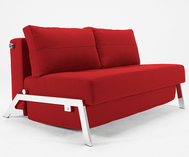 Cubed deluxe sofa bed in basic red contemporary futons other metro by thefutonmattress - The basics about futons ...