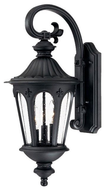 Exterior Wall Light Height : Marietta 3 Light 24 5 Height Outdoor Wall Sconce - Traditional - Outdoor Wall Lights And Sconces ...