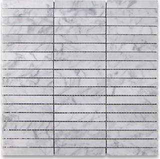 Carrara white marble rectangular stack mosaic tile 5 8x4 for 14 wall street 23rd floor