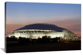 Dallas cowboys stadium ii 24 x 16 gallery wrapped canvas for Dallas cowboys stadium wall mural