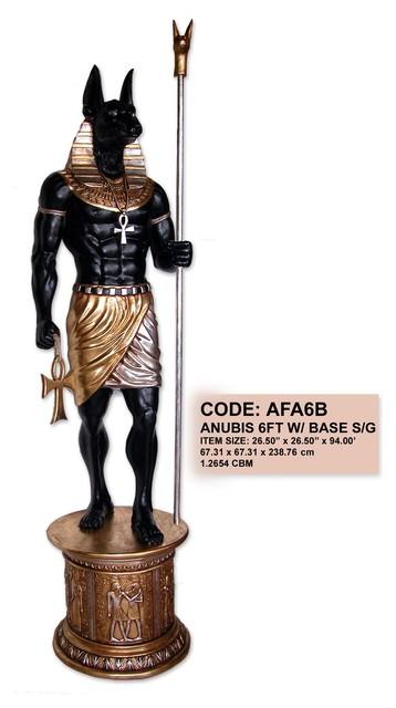Egyptian Anubis Statue On Base 8ft Home Decor Dallas