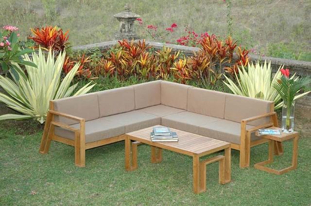 Maku Furniture Teak Sectional Sofa By Maku Furnishings