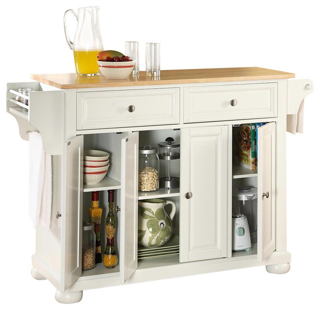 Crosley Furniture Alexandria Wood Top Kitchen Island In: Crosley Furniture Alexandria Natural Wood Top Mahogany