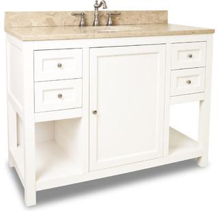 Lyn design van091 48 t light marble top transitional bathroom vanities and sink consoles - Simply design a bathroom vanity with five steps ...