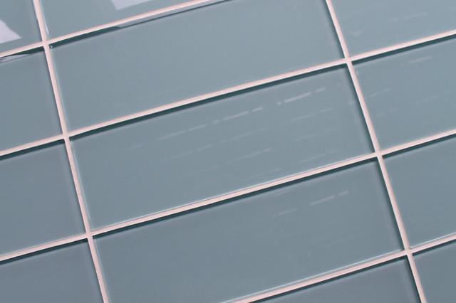 Jasper Light Blue Gray 4 Quot X 12 Quot Glass Subway Tile