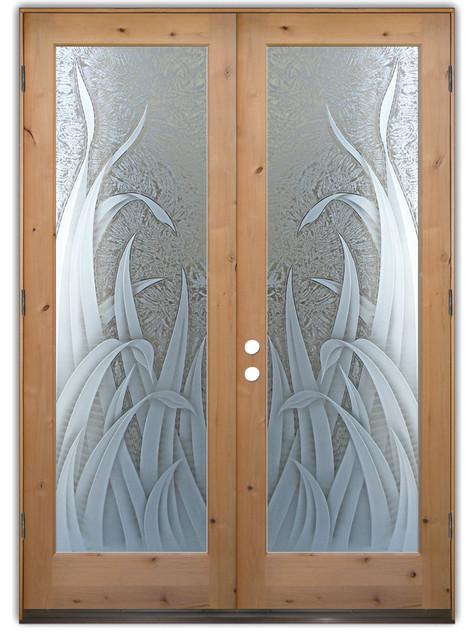 Obscure glass front door for All glass front door