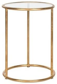Beistelltisch shay eisen gold glas modern for Beistelltisch glas gold
