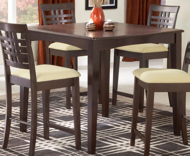 Hillsdale Tiburon Counter Height Fixed Top 40x40 Dining Table Contemporary