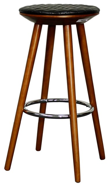 pu bar stool set of 2 contemporary bar stools
