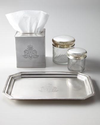 Vintage jars 39 chateau 39 vanity accessories traditional for Bathroom accessories jars