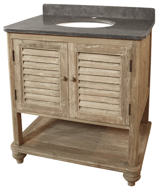 French Country Bathroom Vanities: Rubel French Country Bath Vanity Sink, Reclaimed Pine
