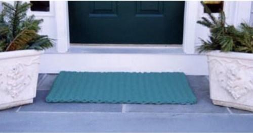 Cape cod teal doormat contemporary doormats by hayneedle for Cape cod door mat