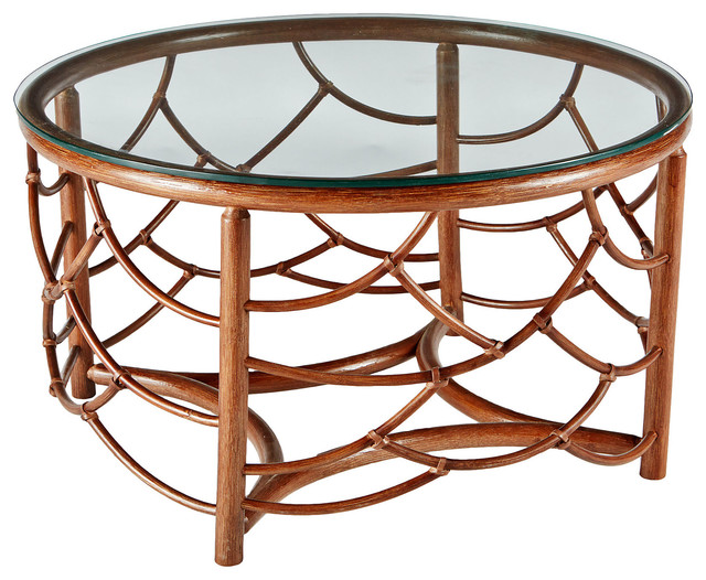 Dorian 30 Round Coffee Table Walnut Contemporary Coffee Tables
