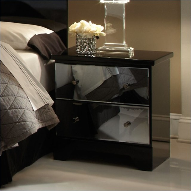 Contemporary Bedroom Set London Black By Acme Furniture: Standard Furniture Parisian 2 Drawer Nightstand In Black