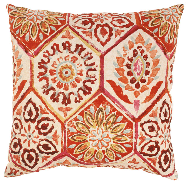 Traditional Throw Pillows : Summer Breeze Throw Pillow - Traditional - Decorative Pillows - by Pillow Perfect Inc
