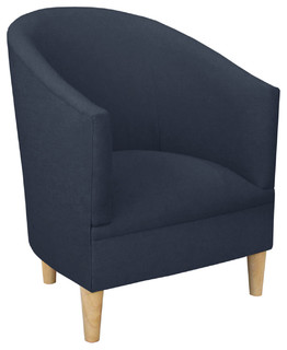 Ashlee Tub Chair Navy Contemporary Armchairs And Accent Chairs