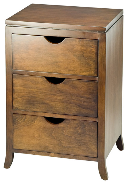 Safavieh Bailey Three Drawer Chest Side Storage Table Contemporary Side Tables And End