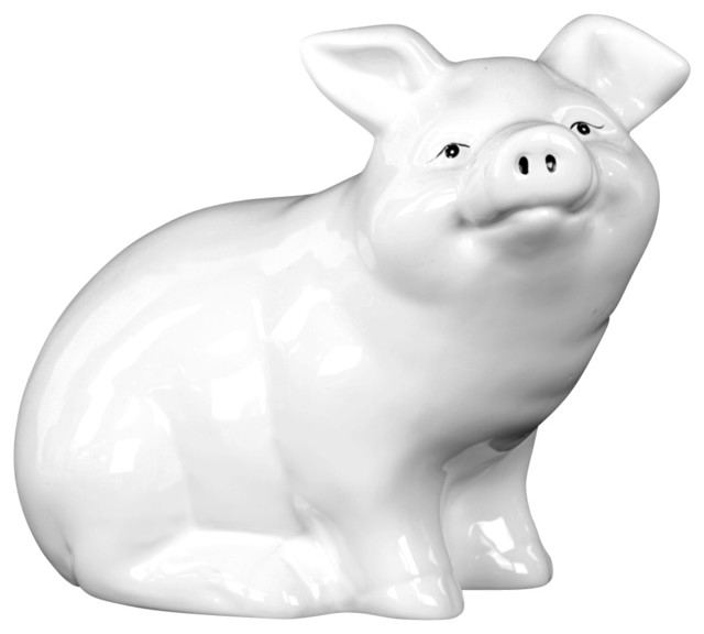 Ceramic Sitting Pig Figurine Farmhouse Decorative Objects And Figurines By Urban Trends