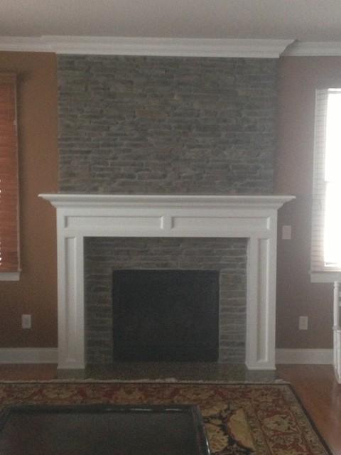 Custom Fireplace Mantel Stone Work Trim