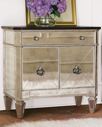 Two-Door Mirrored Chest - Traditional - Accent Chests And Cabinets - by Horchow