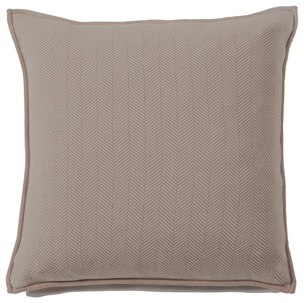 Rani Arabella Taupe Henry Cashmere Blend Pillow Rustic