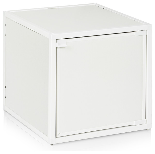 Way Basics Box Storage Cube Stackable White Modern Coffee Tables By Way Basics