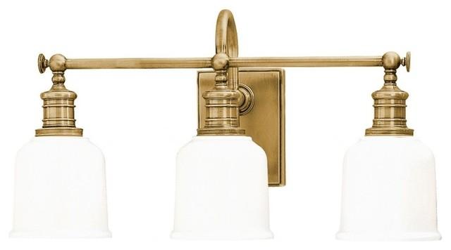 Hudson valley lighting keswick transitional bathroom vanity light transitional bathroom for Transitional bathroom lighting