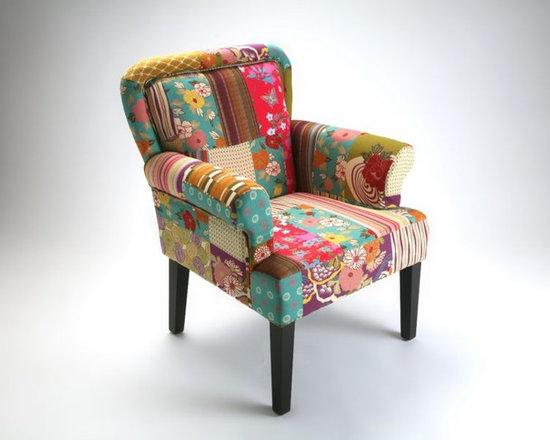 Inside 75 rio fauteuil patchwork avec accoudoirs rio fait partie d 39 un - Fauteuil crapaud patchwork ...