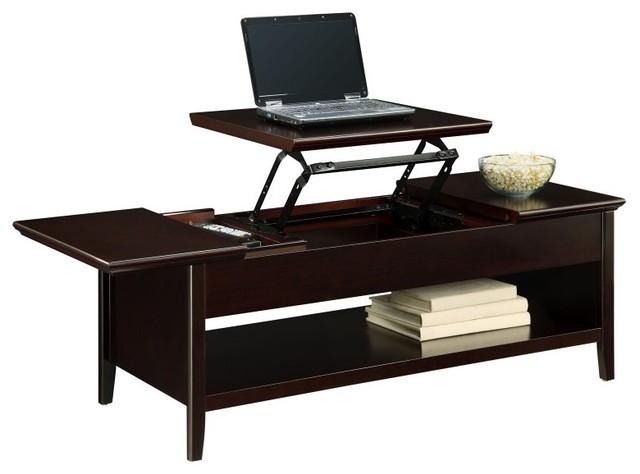 Altra Lift Top Coffee Table Espresso Dark Brown 5166096 Contemporary Furniture By