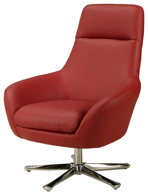 ellejoyce red leather club chair contemporary