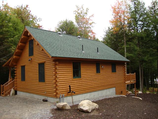 Big twig homes llc small katahdin cedar log home rustic for Small cedar homes