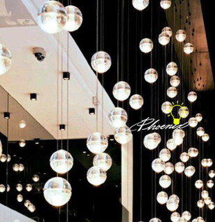LED Crystal Ball Pendant Lighting