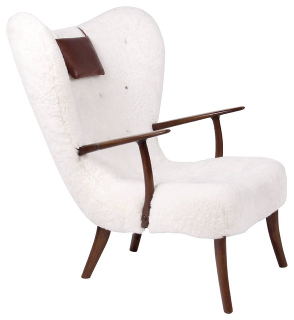 Sheepskin Lounge Chair Contemporary Armchairs And Accent Chairs by EcoF